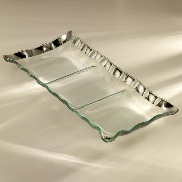 Ruffle Three-Section Tray