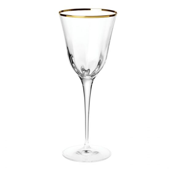 Vietri Optical Gold Water Glass