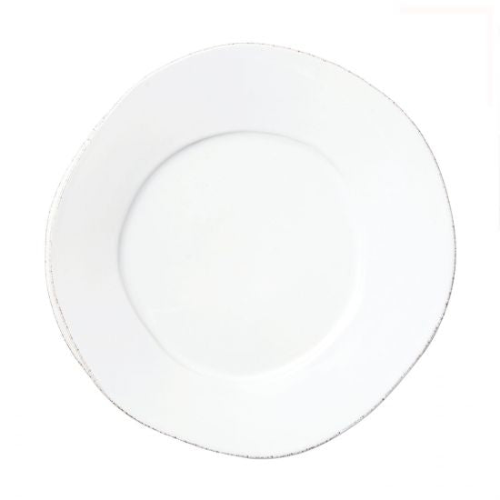 Vietri Lastra White European Dinner Plate