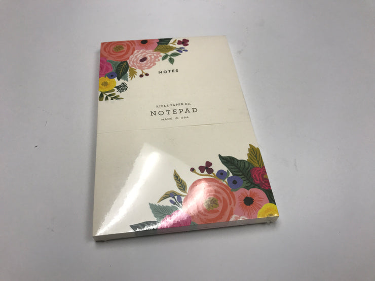 Notepad with flowers-Rifle Paper