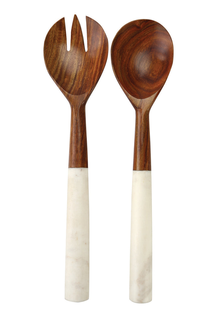 Wood and Marble Servers Set