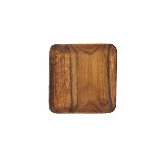 Acacia Wood 7 in. Square Plate Tray