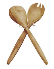 Acacia Wood 12 in. Fork & Spoon Serving Set