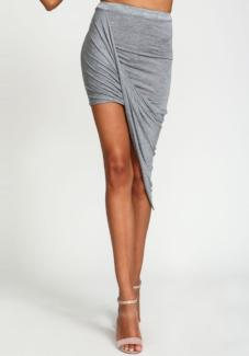 Cross Fold Wrap Waist Skirt
