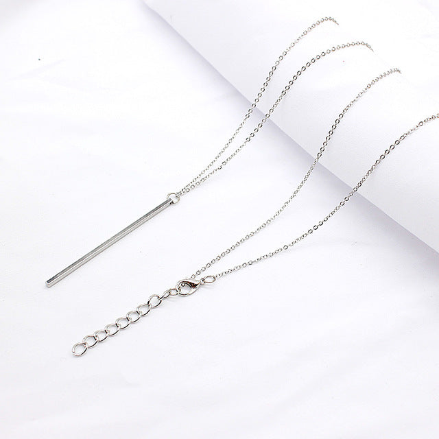 Classic Stick Pendant Necklace