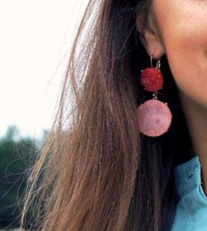 Saturated Geometric Earrings