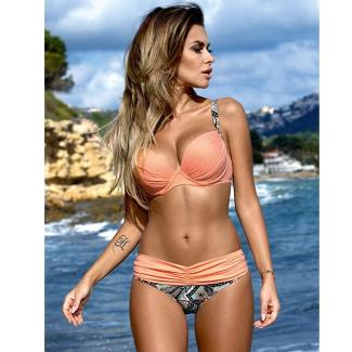 Low Waisted Halter Top Push Up Bikini