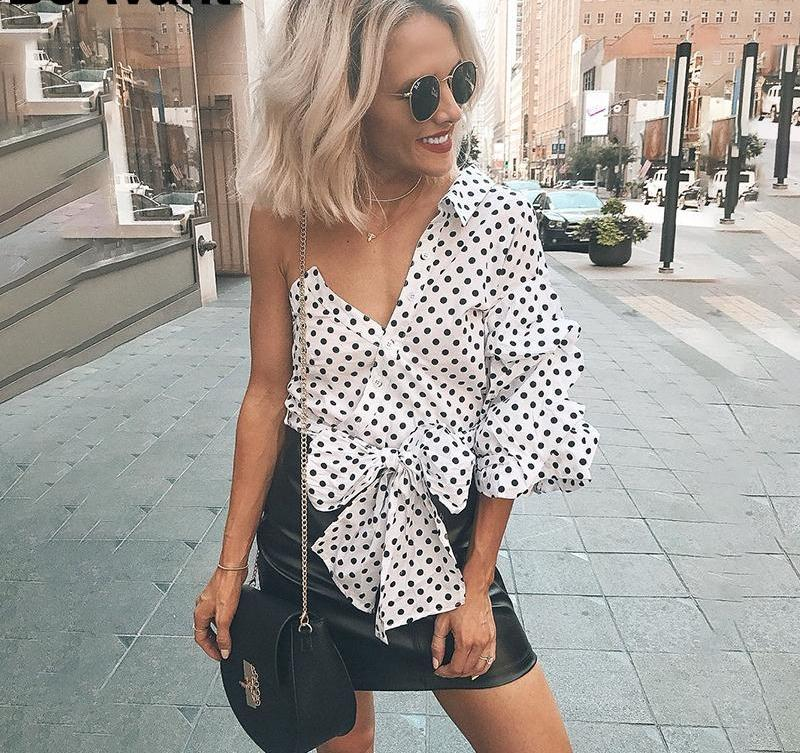 Ruffle One shoulder Blouse
