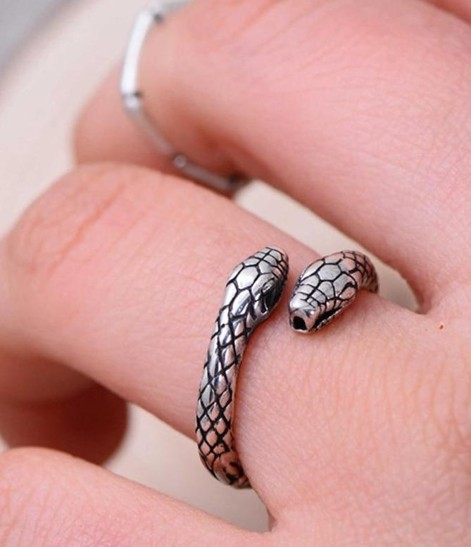 Sterling Silver Snake Adjustable Ring