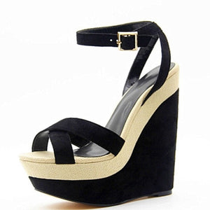 Cashmere Buckle Wedges