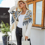 Knitted Cherokee Print Cardigan