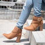 Flock Ankle Rivet Boots