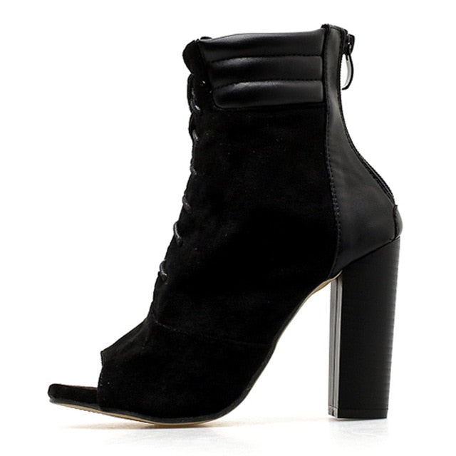 Rome Square Heel Boots