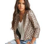 Lozenge  Gold Sequins Jacket