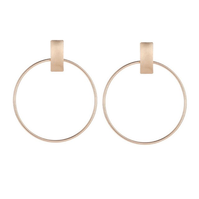 Minimalist Big Circle Earrings
