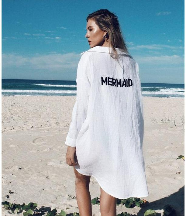 Mermaid Print Beach Top