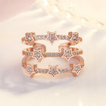 Adjustable White Star Princess Ring