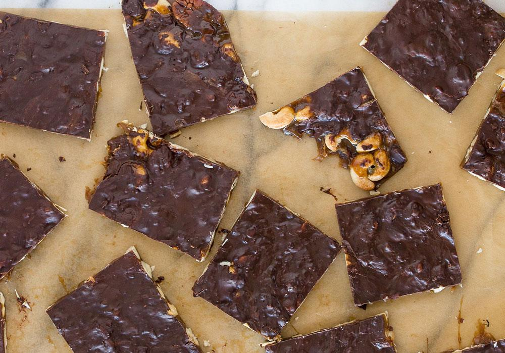 Burnt Caramel Chocolate-Covered Nut Toffee Article