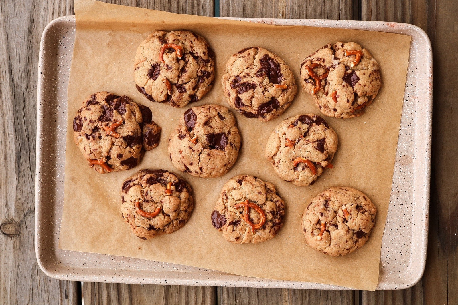 Salted Pretzel Chocolate Chip Cookies Article
