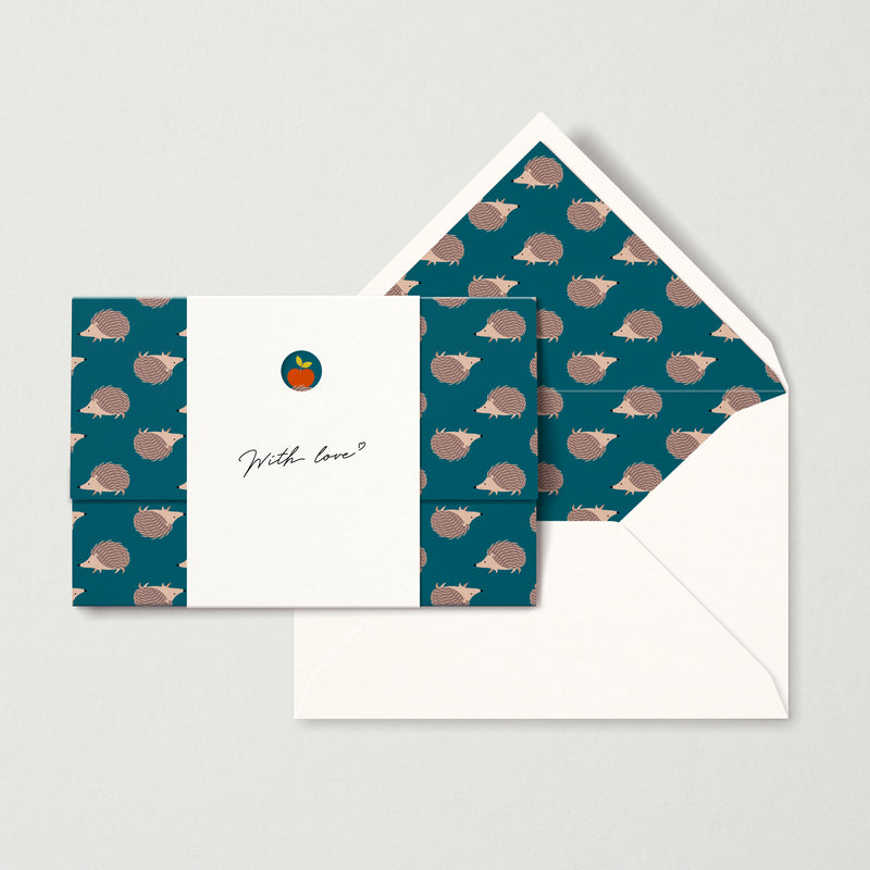 """Hedgehogs 2"" card"
