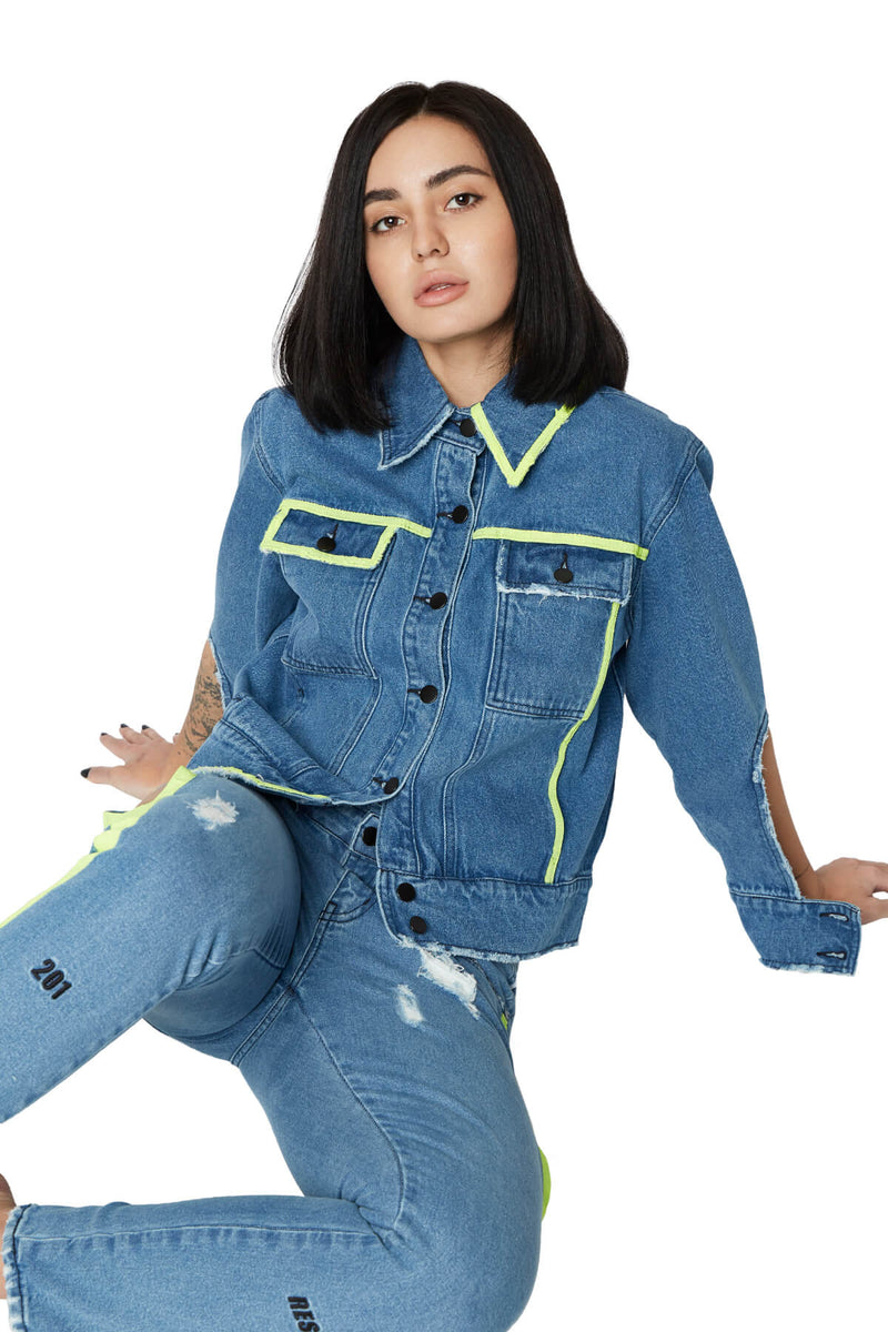 GIN JACKET BLUE DENIM