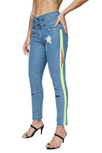 TEQUILA TROUSERS BLUE DENIM