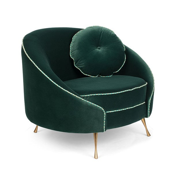 Don't Love Me love seat dark green
