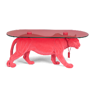 Dope As Hell coffee table pink