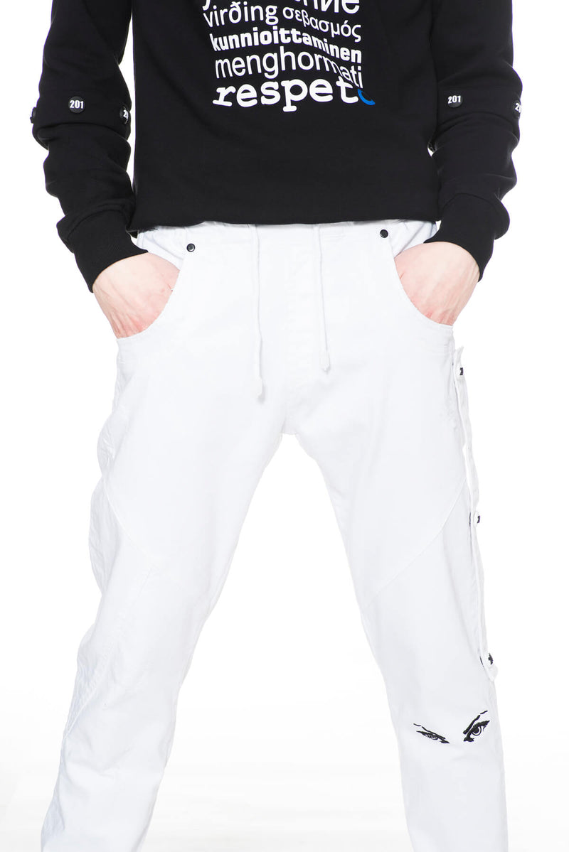 RE BAGGY TROUSERS WHITE