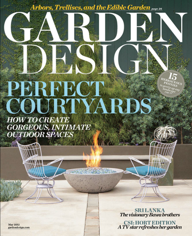 Garden Design Magazine cover TerraTrellis