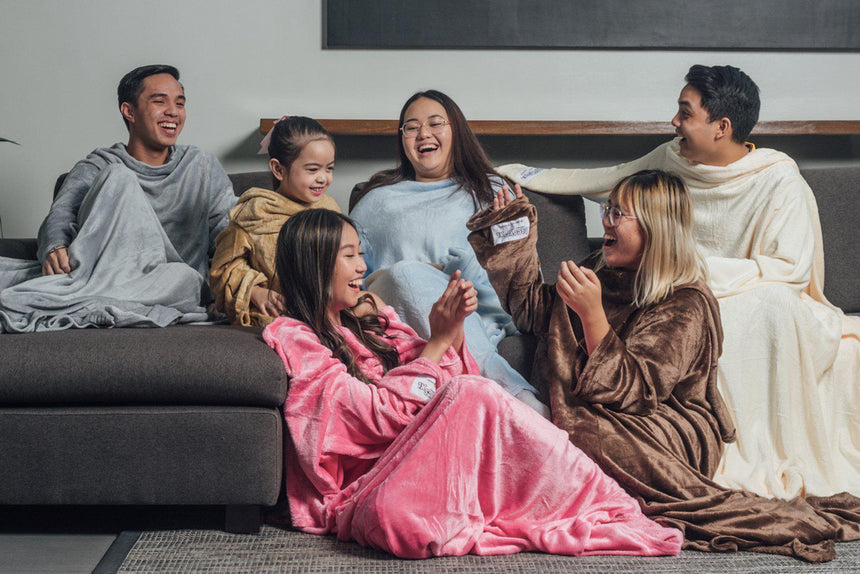 News-This 'blanket with sleeves' is what people who are always cold need in life - Bleeves | Wearable Blanket with Sleeves