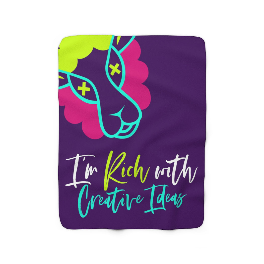 I'm Rich with Creative Ideas Sherpa Fleece Blanket