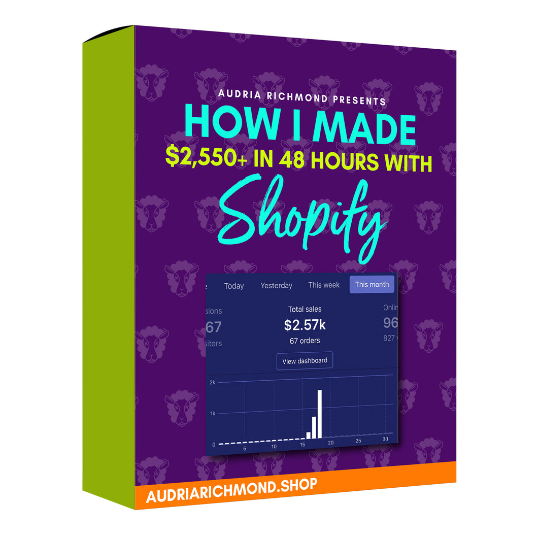 How I Made $2,550 in 48 Hours with Shopify
