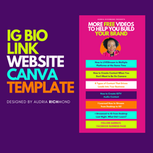 Load image into Gallery viewer, IG BIO Link Website Canva Template