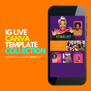 IG LIVE Canva Template Collection *** Works on iPhones Only***