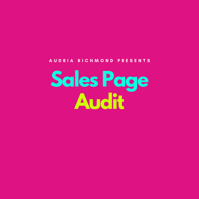 Sales Page Audit