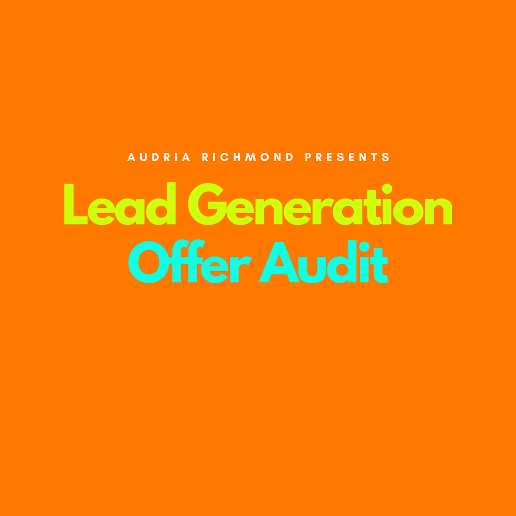 Lead Generation Offer Audit