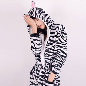 Adults Animal Flannel Bath Robe