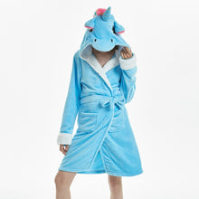 Load image into Gallery viewer, Adults Animal Flannel Bath Robe