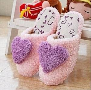 Cashmere Love Heart Slippers.