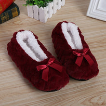 Load image into Gallery viewer, Women's Winter Bow-knot Slippers.