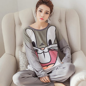 Cartoon Animated Womens Trouser Pyjamas Set