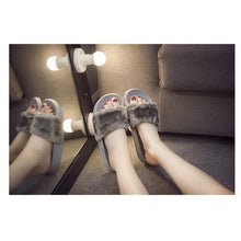 Load image into Gallery viewer, Casual Fluffy Faux Fur Sliders.