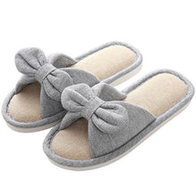 Load image into Gallery viewer, Butterfly Knot Linen Slippers.