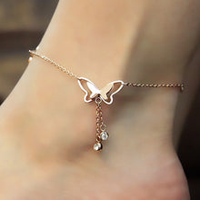 Load image into Gallery viewer, Butterfly Pendant Anklet