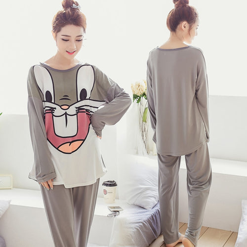 Cartoon Long Sleeve Cute Pyjamas.
