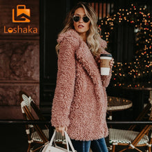 Load image into Gallery viewer, Women Winter Jacket Coat Faux Fur Bomber Jacket