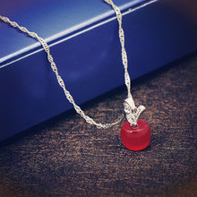 Load image into Gallery viewer, Apple Crystal Pendant Necklace
