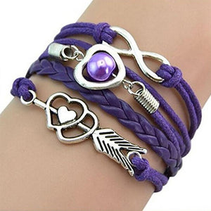 Infinity Love Heart Imitation Pearl Friendship Bracelet