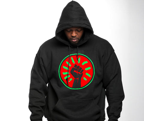 Black Fist Hooded Sweatshirt - Black